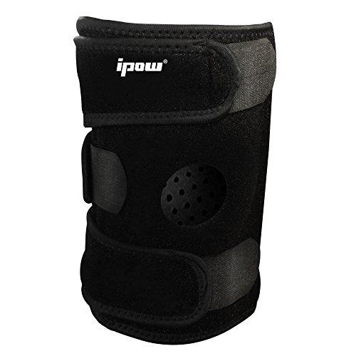 [Neue Version] Ipow� Hochwertige verstellbare Kniebandage schutz Knie beim Laufen Jogging Ballsport, max 21 Zoll