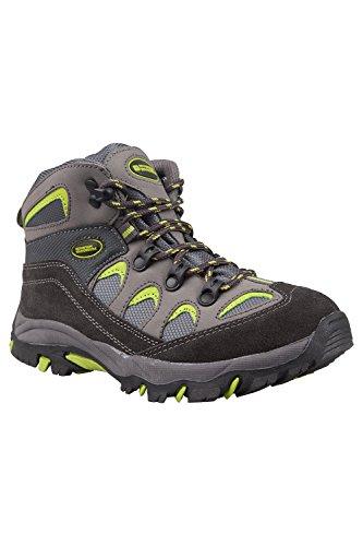 Mountain Warehouse Oscar Kinder Jungen M�dchen Velour Wanderstiefel Schuhe Stiefel Wanderschuhe Limette 36