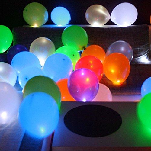 15 LED leuchtende Luftballons - mehrfarbig - sch�ne Ballons f�r die Party, Geburtstag, Hochzeit, Festival