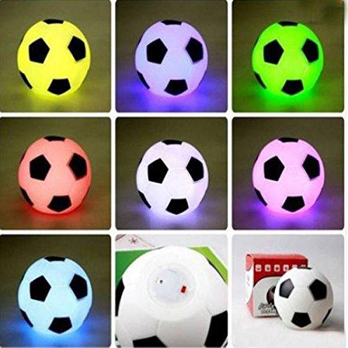 SOLMORE LED Colorful Football Fu�ball Lampe Nachtlicht Schreibtischlampe Schreibtischleuchte B�roleuchte Leselampe Tischlampe Nachttischlampen Buchlampe Laptoplampe Tischleuchte Stimmungslicht