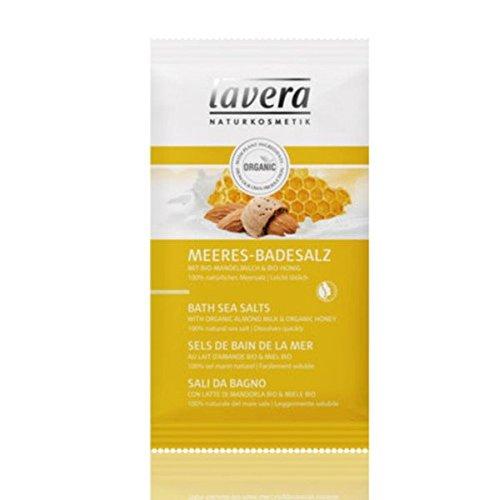 Lavera Meeres Badesalz Bio Mandelmilch und Bio Honig - weiche geschmeidige Haut, 1er Pack (1 x 82 g)