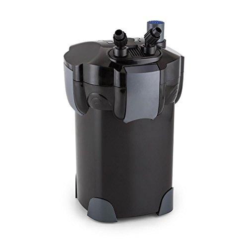 DURAMAXX Clearflow-35UV Aquariumfilter Au�enfilter Wasserfilter f�r S��- und Salzwasser f�r Aquarien bis 700 Liter (35W, 3fach-Filter, 1400l/h, 9W-UVC-Kl�rer, Kammerfilter) schwarz