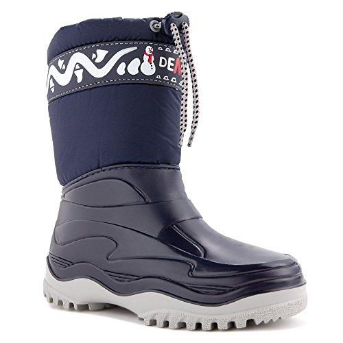 DEMAR Kinder Winterstiefel Schuhe gef�ttert FROST (32/33, blau)