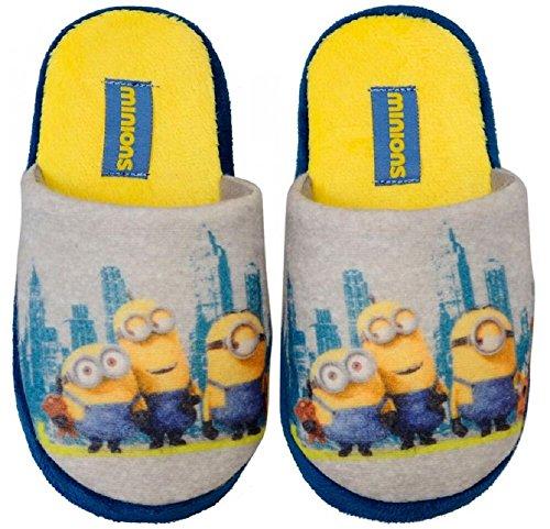 MINIONS MINION Kinder Hausschuhe Pantoffeln Schuhe Gr. 27-34 Neu (31/32, gelb)