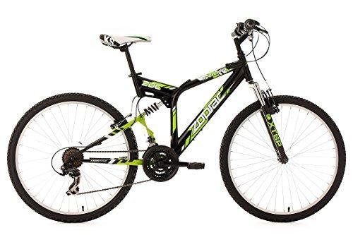 KS Cycling Fahrrad Mountainbike MTB Fully Zodiac, Schwarz/Gruen, 26 Zoll, 321M
