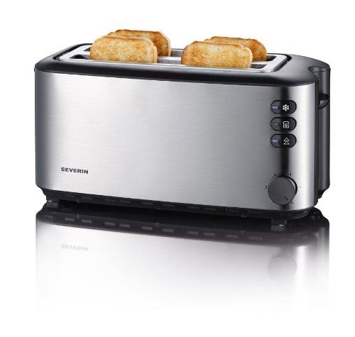 Severin AT 2509 Automatik-Toaster (1400 Watt, f�r bis zu 4 Brotscheiben), edelstahl