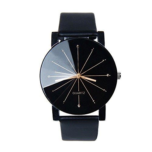 Franterd� Herren-Armbanduhr Quarzuhr Armbanduhr Elegant Uhr Modisch Zeitloses Design Klassisch Leder Schwarz