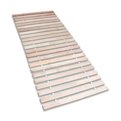 Betten-ABC Premium Rollrost, Stabiles Erlenholz, mit 23 Leisten und Befestigungsschrauben, Gr�sse 90x200 cm