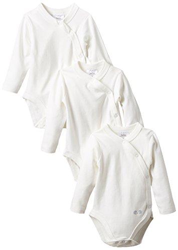 Twins Unisex Baby Langarm-Wickelbody im 3er Pack, Gr. 68, Wei� (weiss 110601)