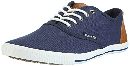 JACK & JONES JJSPIDER URBAN CANVAS SNEAKER, Herren Sneakers, Blau (Dress Blues), 42 EU