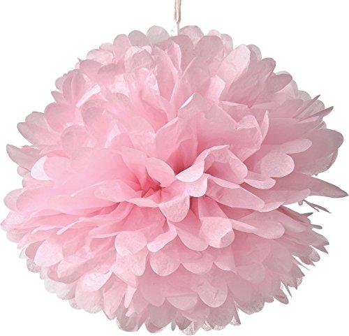Set von 10�Rosa Seidenpapier Pompons zum Aufh�ngen Blumen Ball Hochzeit Party Bridal Dusche Kinderzimmer Dekoration, rose, 10Inch