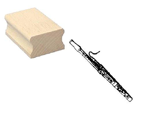 Stempel Holzstempel Motivstempel � FAGOTT � Scrapbooking - Embossing Musik Holzblasinstrument Blasinstrument Komponist