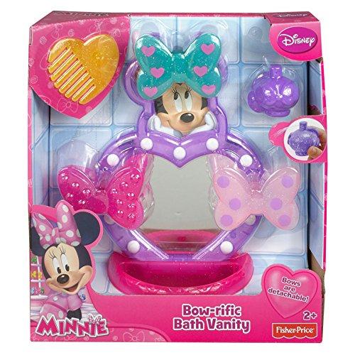 Mattel BGL88 - Fisher-Price Disney's Minnie Maus Minnies Waschtisch, Badewannenspielzeug
