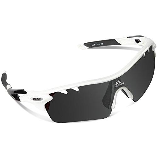 HODGSON Fahrradbrille Sport Sonnenbrille f�r Herren und Damen Polarisierte, Sportbrille mit 5 Wechselobjektiven und Frauen Radsports, Baseball, Laufengl�ser, Tr90 unzerbrechlich