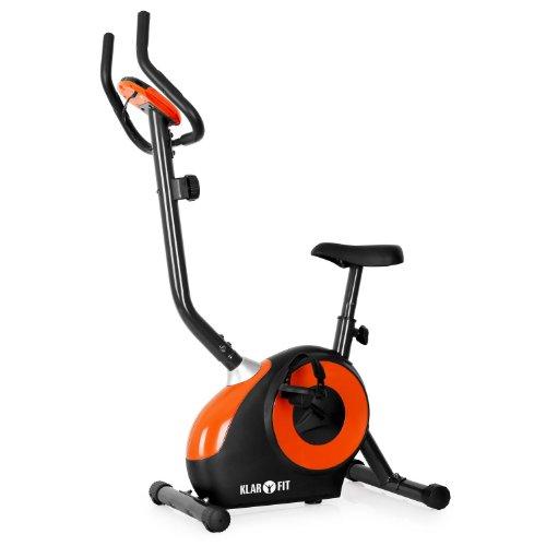 Klarfit Mobi FX 250 Heimtrainer Fahrrad- und Ausdauertrainer Ergometer (inkl.Pulsmesser, Trainingscomputer, bis max. 110kg, TV/GS-zertifizierte Sicherheit) schwarz-orange