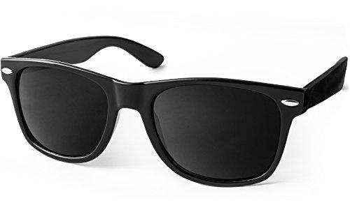 UVprotect� Wayfarer Design Sonnenbrille Schwarz W01