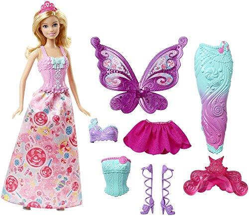 Mattel Barbie DHC39 - Modepuppen, 3-in-1 Fantasie Barbie