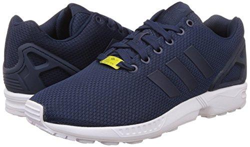 adidas Originals ZX Flux, Herren Sneakers, Blau (Dark Blue/Dark Blue/Core White), 42 2/3 EU (8.5 Herren UK)