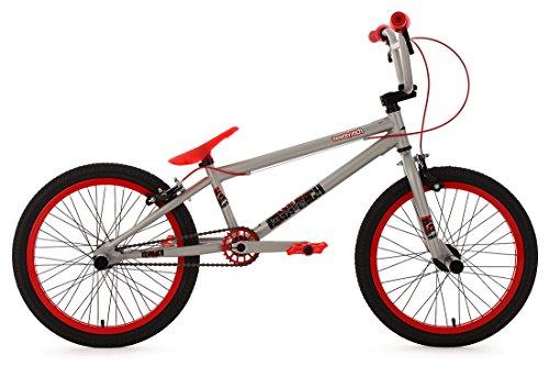 """KS Cycling Fahrrad BMX Freesyle 20"""" Twentyinch silber-rot KS Cycling, silber, 20, 601B"""