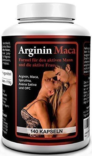 Biomenta� L-Arginin plus Maca 1500 - AKTIONSPREIS!!! - 140 Kapseln hochdosiert mit L-Arginin 1500 mg + Maca Wurzelextrakt 3500 mg je Tagesdosis| f�r aktive Frauen und M�nner | OPC, Avena Sativa, Alge Spirulina, Zink