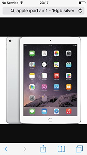"Apple iPad Air WIFI 16 GB Silber - 9.7"" Tablet - 1.3 GHz, 24,6-cm-Display, MD788FD/A"