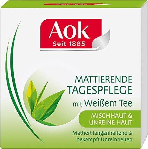 Aok Mattierende Tagespflege mit wei�em Tee, 3er Pack (3 x 50 ml)