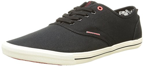 JACK & JONES JJSPIDER CANVAS SNEAKER, Herren Sneakers, Schwarz (Anthracite), 43 EU (9 Herren UK)