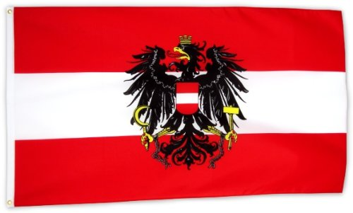 Fahne Flagge �sterreich mit Wappen 90 x 150 cm