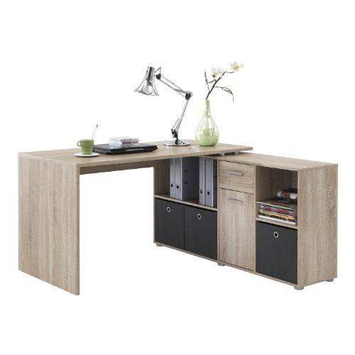 FMD M�bel 353-001 Winkelkombination LEX Tisch circa 136 x 75 x 68 cm, montiert Regal circa 137 x 71 x 33 cm, eiche