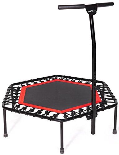 SportPlus Fitness Trampolin, Bungee-Seil-System, � 110 cm, bis 130 kg Benutzergewicht, T�V S�d Sicherheit gepr�ft