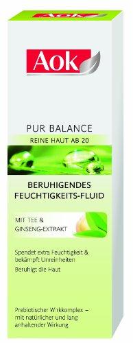 Aok Gesichtspflege Pur Balance Beruhigendes Feuchtigkeits-Fluid, 1er Pack (1 x 50 ml)