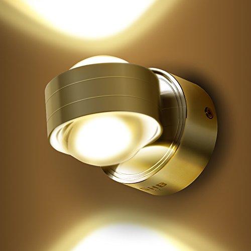 GHB 6W LED Wandleuchte Halb Globe Warmwei� Wandlampe [Energieklasse A+]