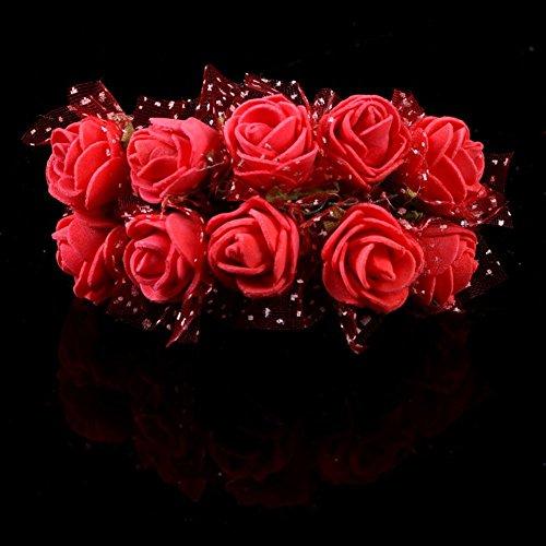 Butterme 144 Pcs Mini K�nstliche Schaum Rosen Blumen Hochzeits F�lschungs Blumen Blumenstr�u�e Handwerk DIY Hausgarten Dekor