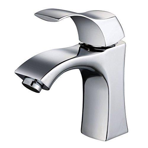 Auralum� Elegant Hochwertig Einhebel- Mischbatterie Verchromt Wasserhahn Armatur Waschtischarmatur Wasserfall Einhandmischer f�r Bad Waschbecken