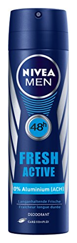 Nivea Men Deo Fresh Active Spray, ohne Aluminium, 4er Pack (4 x 150 ml)