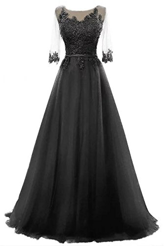 Vickyben Damen A-Linie langes Schnuerung Prinzessin Tuell Abendkleid Ballkleid brautjungfer Cocktail Party kleid