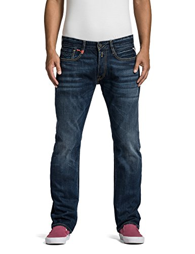 Replay Herren Straight Leg Jeanshose NEWBILL, Gr. W36/L34 (Herstellergr��e: 36), Blau (Blue Denim 7)