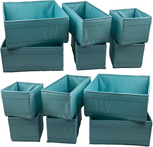 """IKEA 12-er Set Aufbewahrungsboxen """"Skubb"""" zw�lf Kisten Regaleins�tze je 4 St�ck in 3 versch. Gr��en - HELLBLAU (12er-Set, hellblau)"""