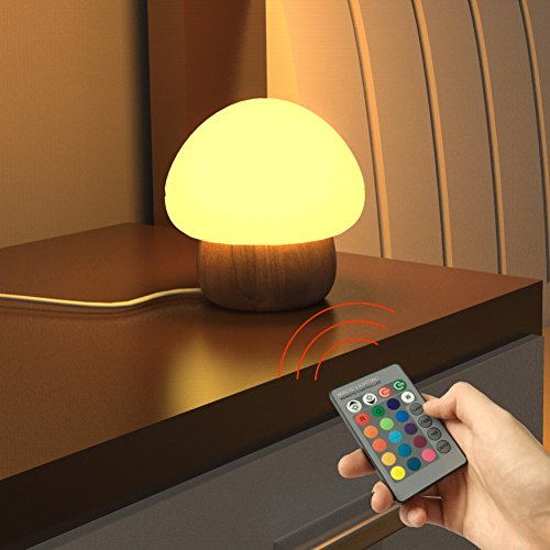 LED-Nachtlicht , SUNNIOR beweglicher Silikon-netter Pilz Nursery Nachttischlampe f�r Schlafzimmer Wohnzimmer Camping Picknick Innen- und Au�enbereich