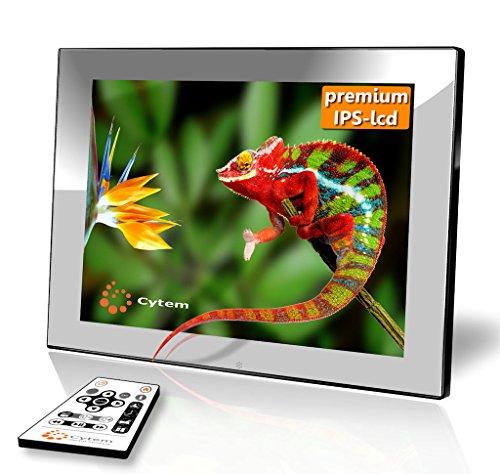 Cytem DiaMine 8i IPS silber; Digitaler Bilderrahmen 20,3cm (8 Zoll im 4:3 Format); IPS Display; ECHTE Zufallswiedergabe; Ordnerbasierte Diaschau; unterst�tzt min. 10.000 Bilder; HD-Video Wiedergabe; einfachste Bedienung