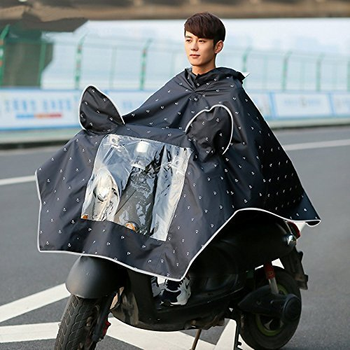 Regenponcho WAYCOM Reflective Raincoat - Wasserdichte Motorrad-Roller-Regen-Mantel - Spiegel Slot (Canglan)