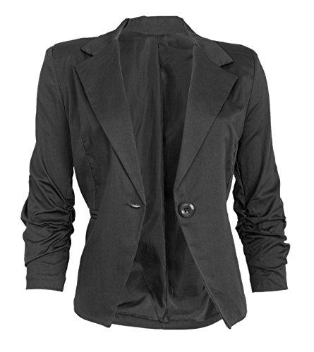 Eleganter Damenblazer Blazer Baumwolle J�ckchen Business Freizeit Party Jacke in mehreren Farben 36 38 40 42