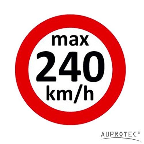 Geschwindigkeitsaufkleber Winterreifen Aufkleber 160 - 240 km/h Auswahl: (5 St�ck, 240 km/h)