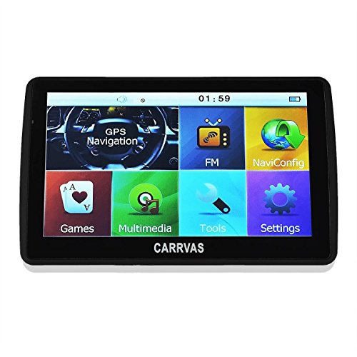[Neue Version] CARRVAS 7.0 Inch LCD Touch Bildschirm SAT NAV/Auto GPS Navigation System/Multimedia-Player/FM-Transmitter/mit UK und Europa Karten 8GB 128MB