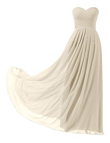 Remedios A-Linie Chiffon Brautjungfernkleider ballkleid Abendkleider Lang, #5 Champagner, 36