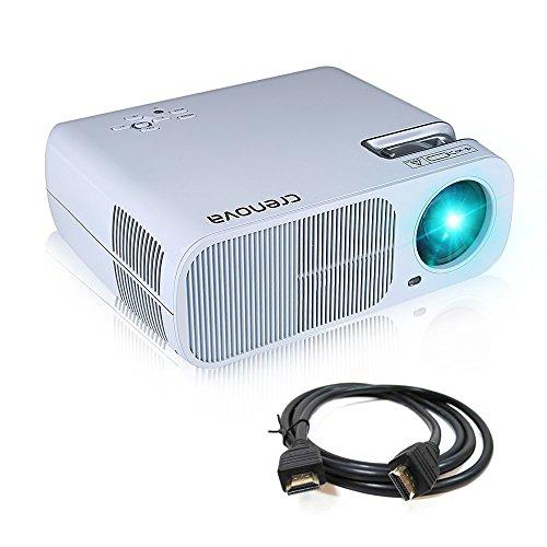 Crenova XPE600 Beamer Tragbarer HD Projektor 2600 Lumen mit 800*480 Aufl�sung und 2 HDMI 2 USB VGA TV/DTV YPBPR Eingang f�r Heimkin - Wei�