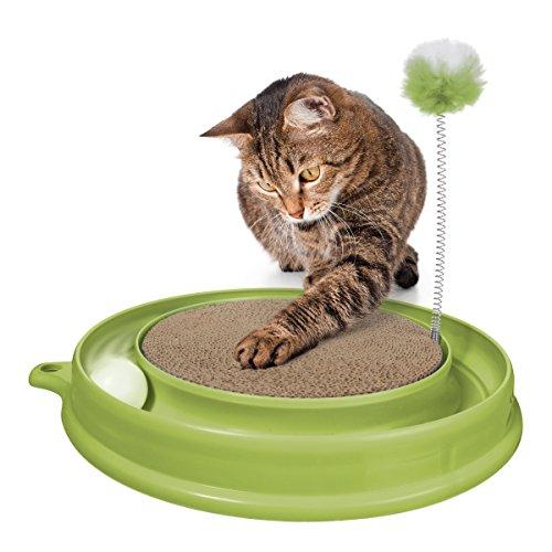 catit 51096 Katzenspielzeug Play n Scratch mit Katzenminze, gr�n