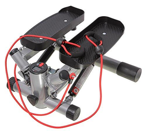 SportPlus Profi-Stepper mit Zugb�ndern und Trainingscomputer, SP-MSP-008-P