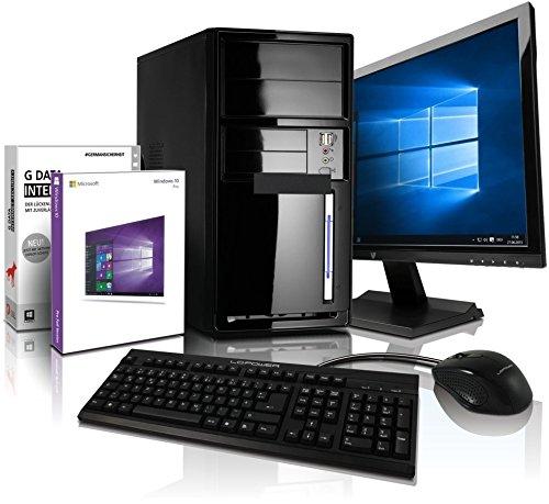 Komplett Fl�ster-PC Paket AMD Quad-Core Office/Multimedia shinobee Computer mit 3 Jahren Garantie! inkl. Windows10 Professional - AMD Quad Core 4x1.50 GHz, 4GB RAM, 320GB HDD, AMD Radeon HD 8330, USB 3.0, HDMI, VGA, Office, 22-Zoll LED TFT Monitor, Tastatur+Maus #4981