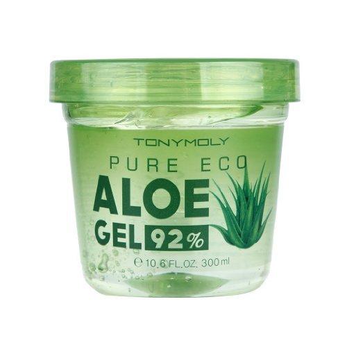 Tony Moly - Pure Eco - XXL Aloe Vera Gel - Feuchtigkeitsgel mit 92% Aloe Vera - Gesichtsgel f�r Frauen und M�nner bei trockener Haut - Gesichtspflege